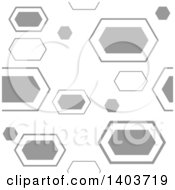 Clipart Of A Retro Geometric Seamless Grayscale Pattern Background Royalty Free Vector Illustration