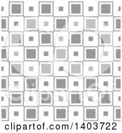 Clipart Of A Retro Seamless Grayscale Pattern Background Of Squares Royalty Free Vector Illustration