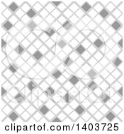 Clipart Of A Retro Seamless Grayscale Pattern Background Of Diamonds Or Tiles Royalty Free Vector Illustration