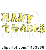 Clipart Of A Yellow Many Thanks Design Royalty Free Vector Illustration