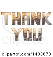 Clipart Of A Sketched Thank You Design Royalty Free Vector Illustration