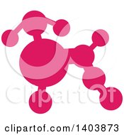 Clipart Of A Silhouetted Pink Poodle Royalty Free Vector Illustration by Cherie Reve