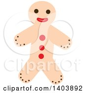 Clipart Of A Christmas Gingerbread Man Cookie Royalty Free Vector Illustration