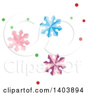 Clipart Of Colorful Christmas Snowflakes Royalty Free Vector Illustration