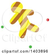 Clipart Of A Christmas Gingerbread Cookie With Green And Red Snow Royalty Free Vector Illustration
