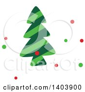 Clipart Of A Christmas Tree And Colorful Snow Royalty Free Vector Illustration
