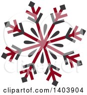 Clipart Of A Retro Snowfkale Design Royalty Free Vector Illustration