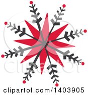 Clipart Of A Retro Snowfkale Design Royalty Free Vector Illustration by Cherie Reve