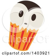 Clipart Of A Vampire Halloween Cupcake Royalty Free Vector Illustration