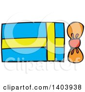 Clipart Of A Birthday Gift Box Royalty Free Vector Illustration by Cherie Reve