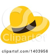 Yellow Hat With A Black Band