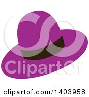 Purple Hat With A Black Band