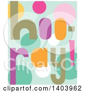 Clipart Of A Colorful Hooray Design Royalty Free Vector Illustration