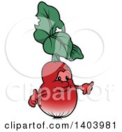 Cartoon Radish Character
