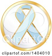 Clipart Of A Light Blue Awareness Ribbon Icon Royalty Free Vector Illustration by inkgraphics