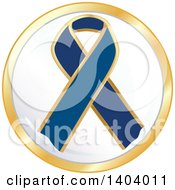 Clipart Of A Navy Blue Awareness Ribbon Icon Royalty Free Vector Illustration