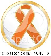 Clipart Of An Orange Awareness Ribbon Icon Royalty Free Vector Illustration by inkgraphics
