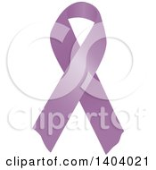 Clipart Of A Purple Orchid Testicular Cancer Awareness Ribbon Royalty Free Vector Illustration