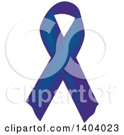 Clipart Of A Navy Blue Awareness Ribbon Royalty Free Vector Illustration