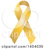 Clipart Of A Gold Awareness Ribbon Royalty Free Vector Illustration