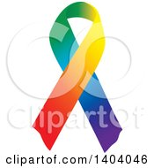 Clipart Of A Rainbow Awareness Ribbon Royalty Free Vector Illustration