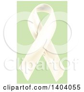 Clipart Of A White Awareness Ribbon On Green Royalty Free Vector Illustration