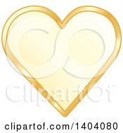 Clipart Of A Yellow Heart In A Gold Frame Royalty Free Vector Illustration