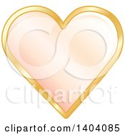 Pastel Orange Heart In A Gold Frame