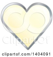 Clipart Of A Yellow Heart In A Silver Frame Royalty Free Vector Illustration by inkgraphics