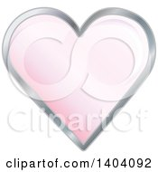 Clipart Of A Pink Heart In A Silver Frame Royalty Free Vector Illustration by inkgraphics