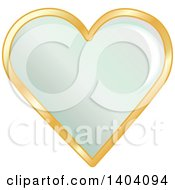 Clipart Of A Green Heart In A Gold Frame Royalty Free Vector Illustration by inkgraphics
