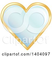 Clipart Of A Blue Heart In A Gold Frame Royalty Free Vector Illustration