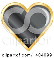 Clipart Of A Black Heart In A Gold Frame Royalty Free Vector Illustration