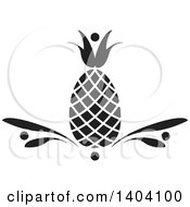 Clipart Of A Black And White Pineapple Design Royalty Free Vector Illustration by inkgraphics