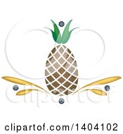 Clipart Of A Pineapple Design Royalty Free Vector Illustration by inkgraphics