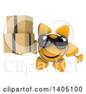 3d Sun Character On A White Background