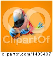 3d Scarlet Macaw Parrot