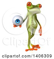 Clipart Of A 3d Green Frog On A White Background Royalty Free Illustration by Julos