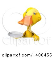 Clipart Of A 3d Yellow Duck On A White Background Royalty Free Illustration