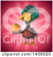 Clipart Of A 3d Mallard Drake Duck Royalty Free Illustration by Julos