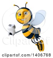 Clipart Of A 3d Male Bee On A White Background Royalty Free Illustration
