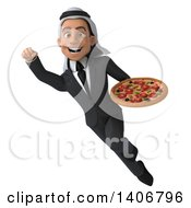 Clipart Of A 3d Young Arabian Business Man On A White Background Royalty Free Illustration by Julos