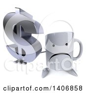 Clipart Of A 3d Coffee Mug Character On A White Background Royalty Free Illustration