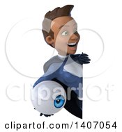Clipart Of A 3d Young Female Black Super Hero In A Dark Blue Suit On A White Background Royalty Free Illustration