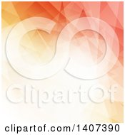 Clipart Of A Gradient Orange Geometric Background Royalty Free Vector Illustration