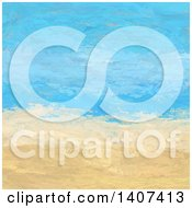 Clipart Of A Painted Abstract Beach Landscape Royalty Free Vector Illustration
