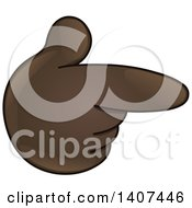 Clipart Of A Cartoon Emoji Hand Pointing Royalty Free Vector Illustration