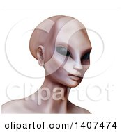 3d Alien Human Hybrid On A White Background