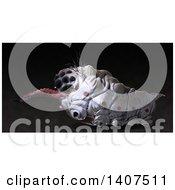 3d Parasitic Grub On A Black Background