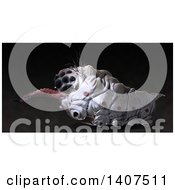 Clipart Of A 3d Parasitic Grub On A Black Background Royalty Free Illustration by Leo Blanchette